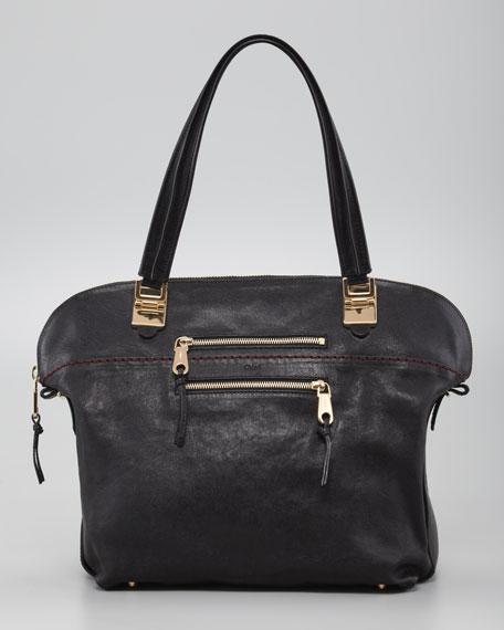 Angie Medium Shoulder Bag, Black