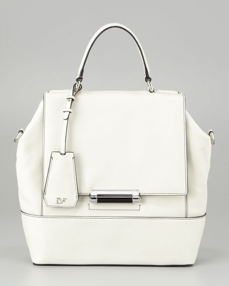 440 Top-Handle Small Satchel Bag, Chalk