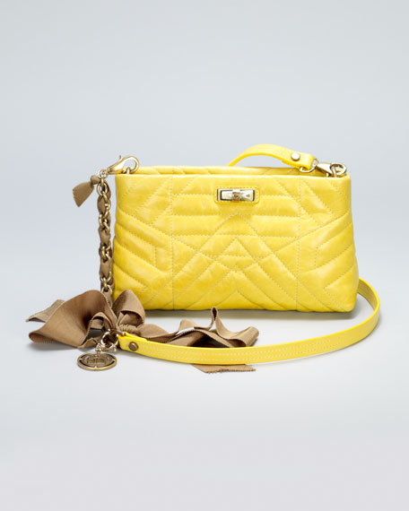 Happy Pocket Shoulder Bag, Yellow