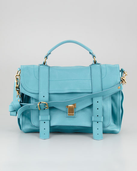 PS1 Medium Satchel Bag, Lagoon
