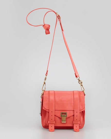 PS1 Shoulder Pouch Bag, Deep Coral