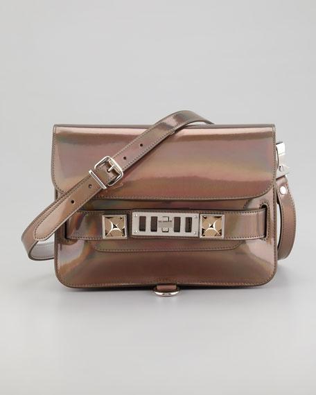 PS11 Mini Crossbody Bag, Metallic Hologram