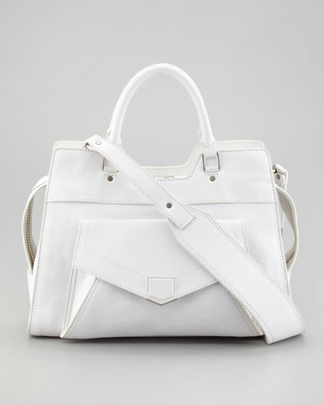 PS13 Small Satchel Bag, White