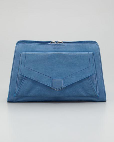PS13 Clutch Bag, Light Peacock