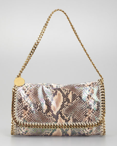 Falabella Faux Python Clutch, Nude