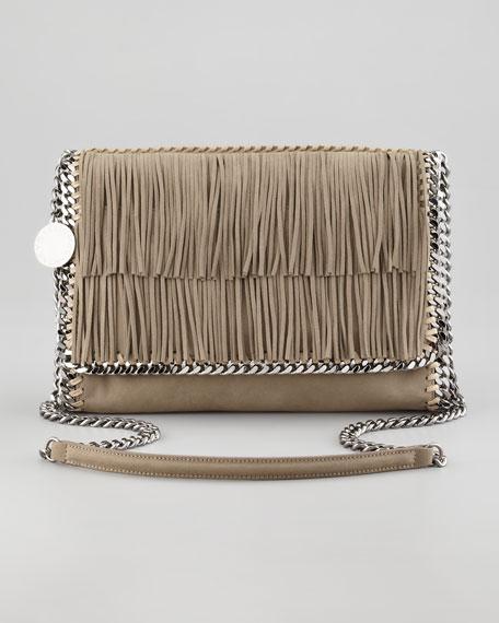Falabella Fringe Crossbody Bag, Taupe