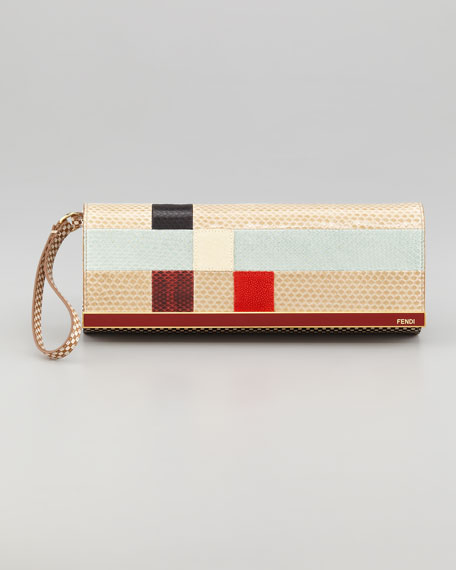 Rush Colorblock Clutch Bag