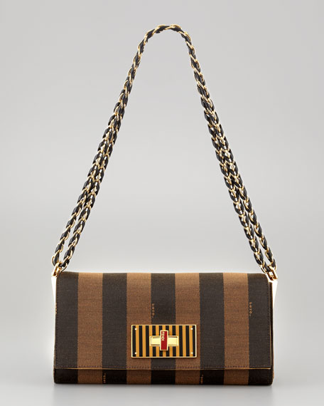Claudia Pequin Striped Small Shoulder Bag