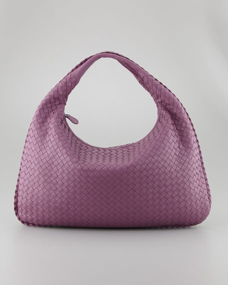 Veneta Large Hobo Bag, Purple