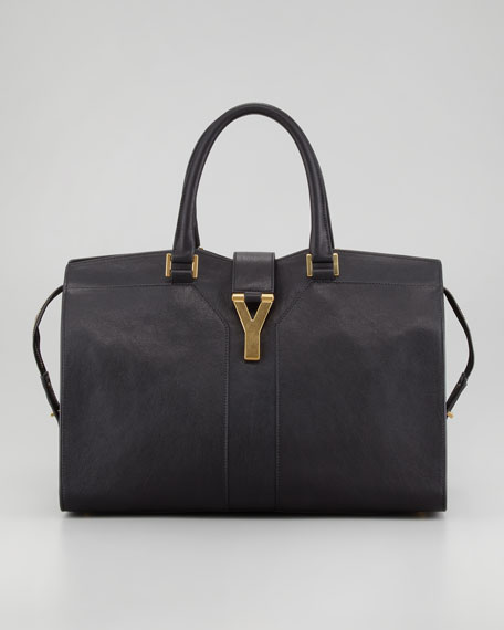 Y Ligne Medium Tote Bag, Black