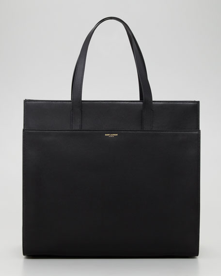 Flat Shopping Tote Bag, Black