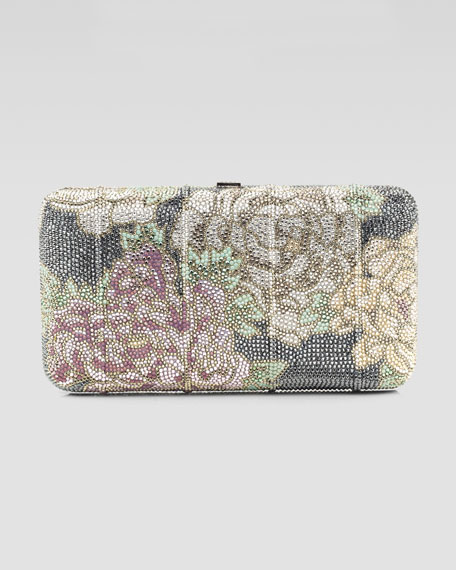Beleza Floral-Beaded Clutch