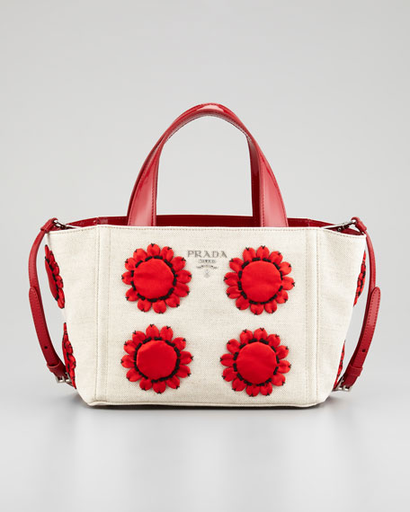 Mistollino Floral Basket Tote Bag