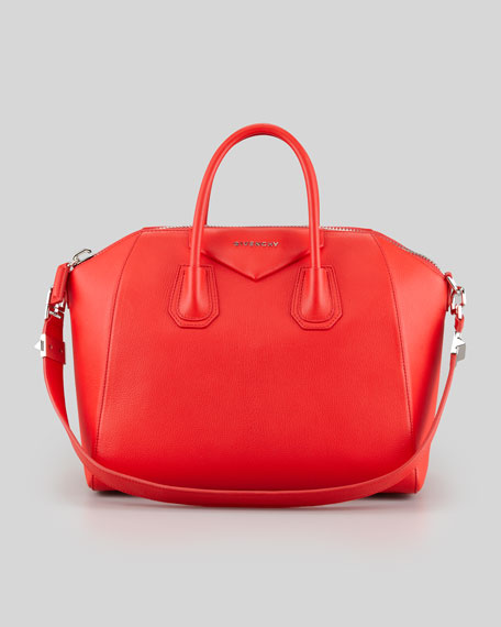 Antigona Medium Satchel Bag, Red