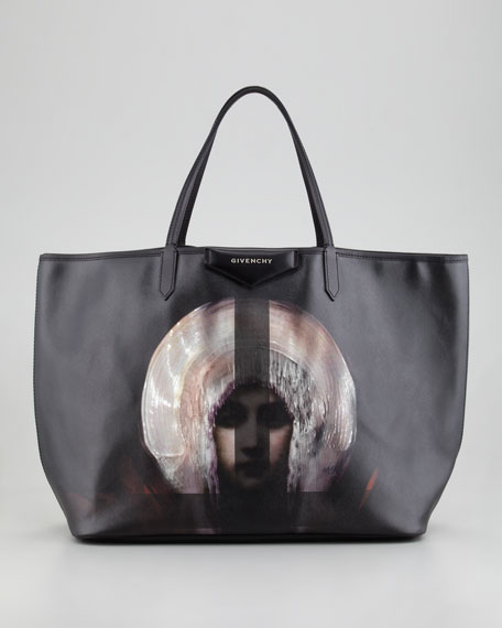 Antigona Madonna-Print Large Shopper Bag