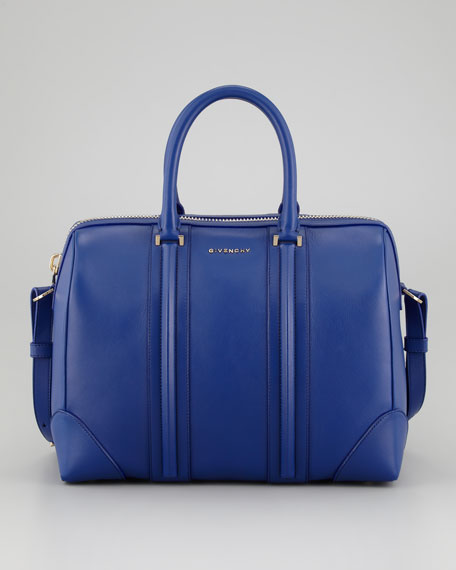 Lucrezia Medium Satchel Bag, Royal