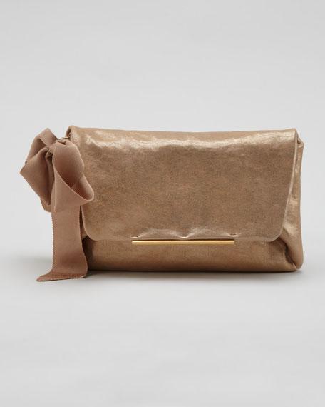 Mai Tai Lambskin Clutch Bag, Gold