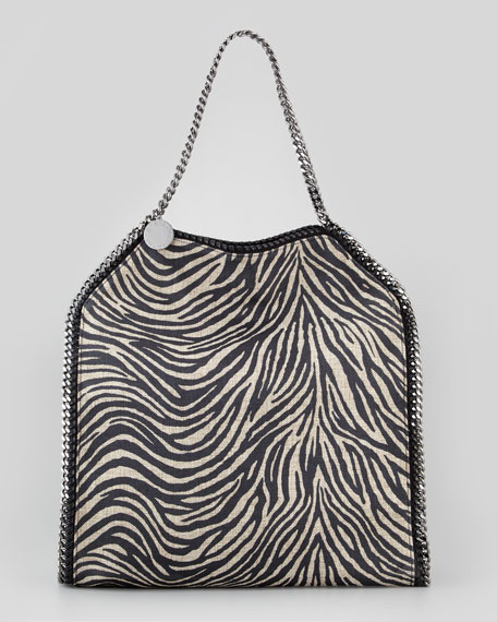 Falabella Zebra-Print Tote Bag