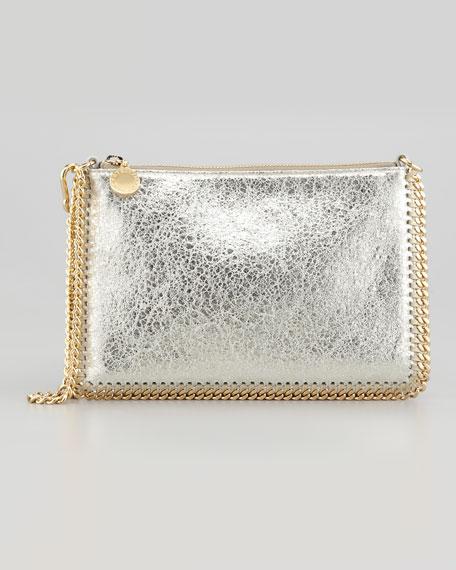 Metallic Mini Chain Shoulder Bag, Platinum