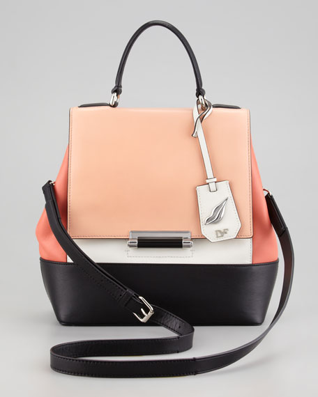 440 Small Colorblock Satchel Bag
