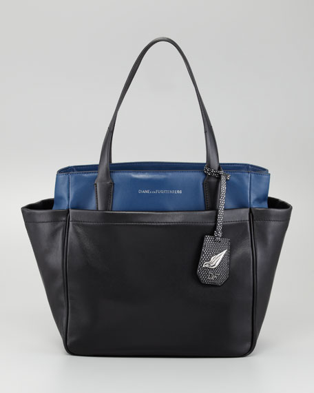 On-the-Go Metallic Tote Bag, Multi Colors