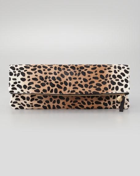 Leopard-Print Oversize Clutch