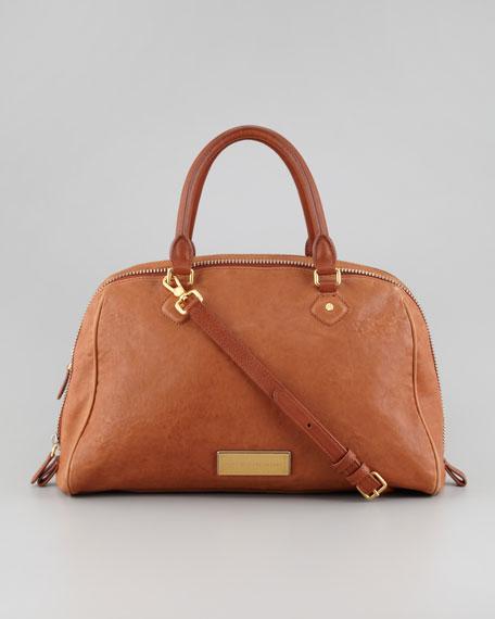 Washed Up Lauren Leather Satchel Bag, Tan