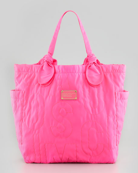 Pretty Nylon Tate Medium Tote Bag, Pink