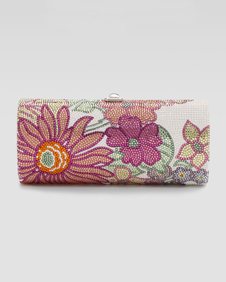 Honey I'm Home Floral-Pattern Cylinder Clutch Bag