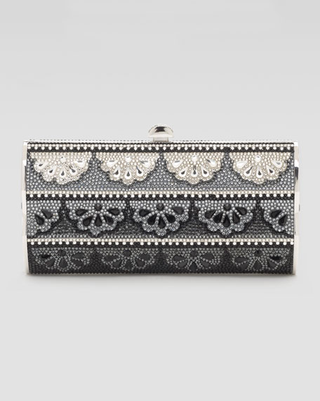 Doily-Pattern Violin-Sided Clutch Bag