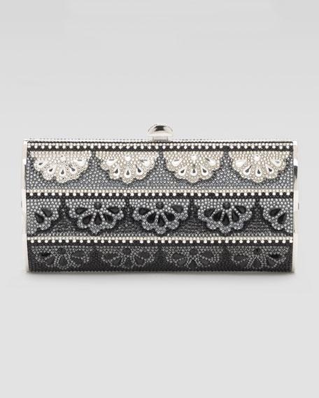 Doily-Pattern Violin-Sided Clutch Bag