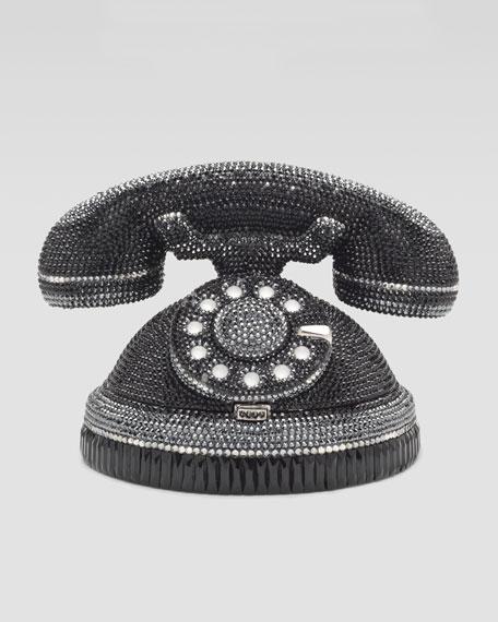 Ringaling Rotary Phone Minaudiere, Black