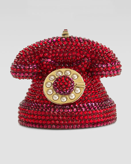 Mini Ringaling Rotary Phone Minaudiere, Red
