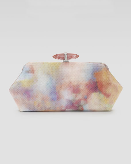 Whitman Pixelated Python Clutch Bag
