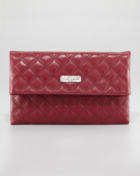 Eugenie Baroque Quilted Oversize Wallet, Large