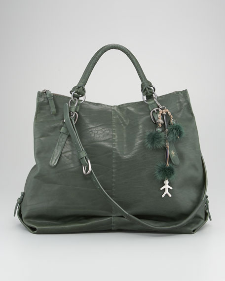 Tumbled Leather Tote Bag