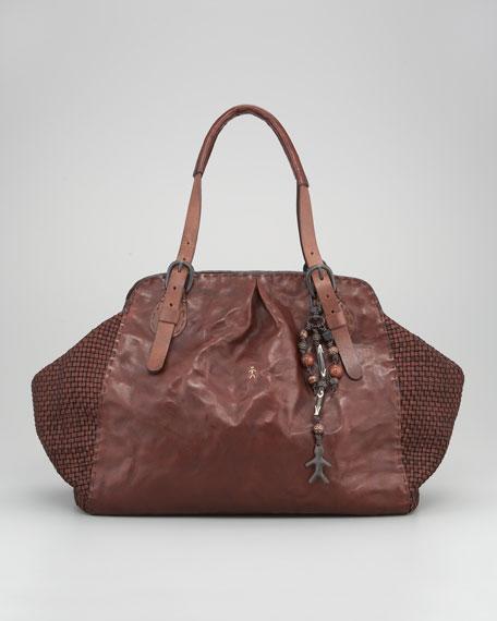 Henry Beguelin Woven Leather Hobo Bag b13577f67f754