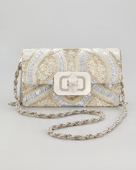 Phoebe Large Shoulder Bag, Silver