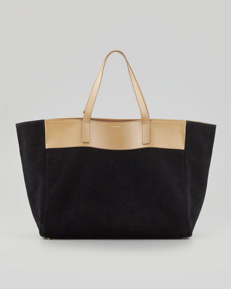 Laurent Reversible Tote Bag, Black/Gold