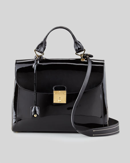 The 1984 Patent Satchel Bag, Black
