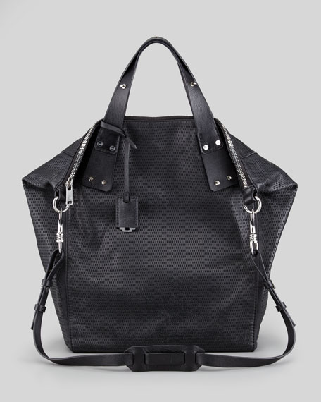Stepney Leather Tote Bag, Black