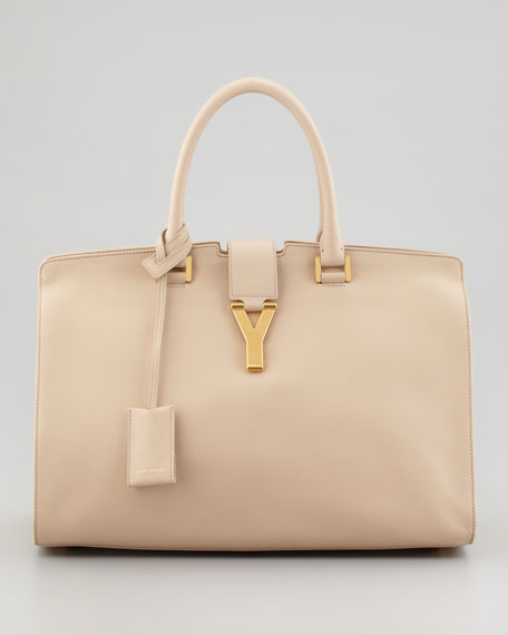 Classic Cabas Y-Ligne Leather Carryall, Neutral