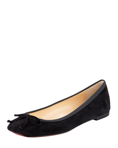 Loewe Square-Toe Leather Flats perfect cheap price top quality sale online 0QUDZo