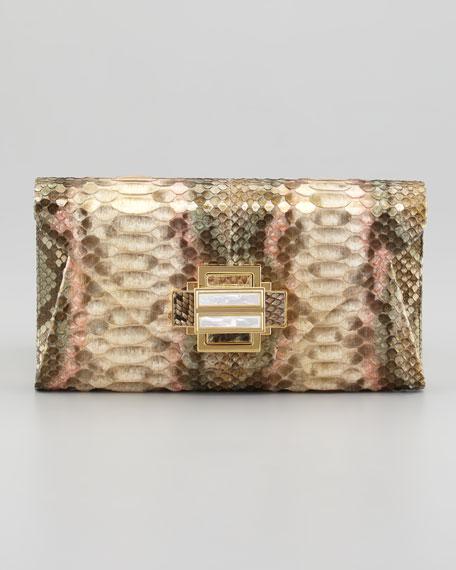 Electra Vintage Python Clutch Bag