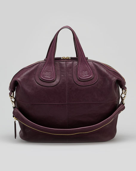 Nightingale Zanzi Medium Satchel Bag, Purple