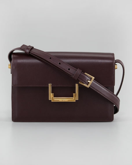 Medium Lulu Shoulder Bag, Wine