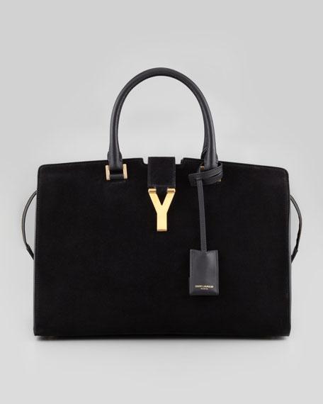 Classic Cabas Y-Ligne Suede Carryall Bag, Black