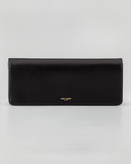 Marquage Medium Clutch Bag, Black