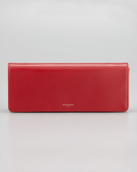 Marquage Medium Clutch Bag, Red