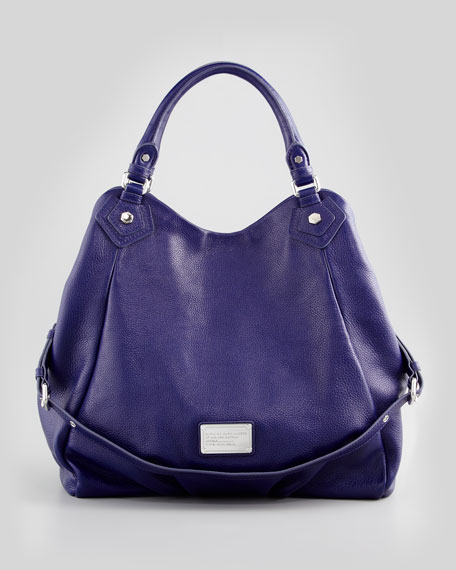 Classic Q Fran Satchel Bag, Blue